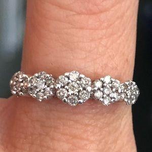 10k Gold 0.50 Carat Diamond Flower Cluster Ring